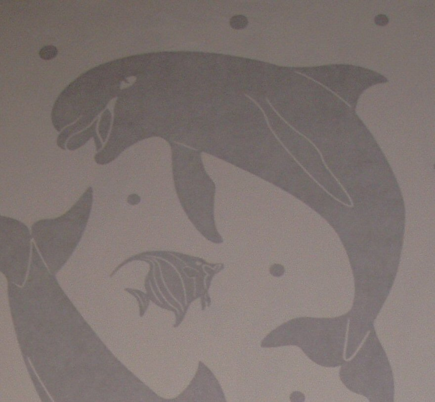 ETCHED DOLPHIN DECAL