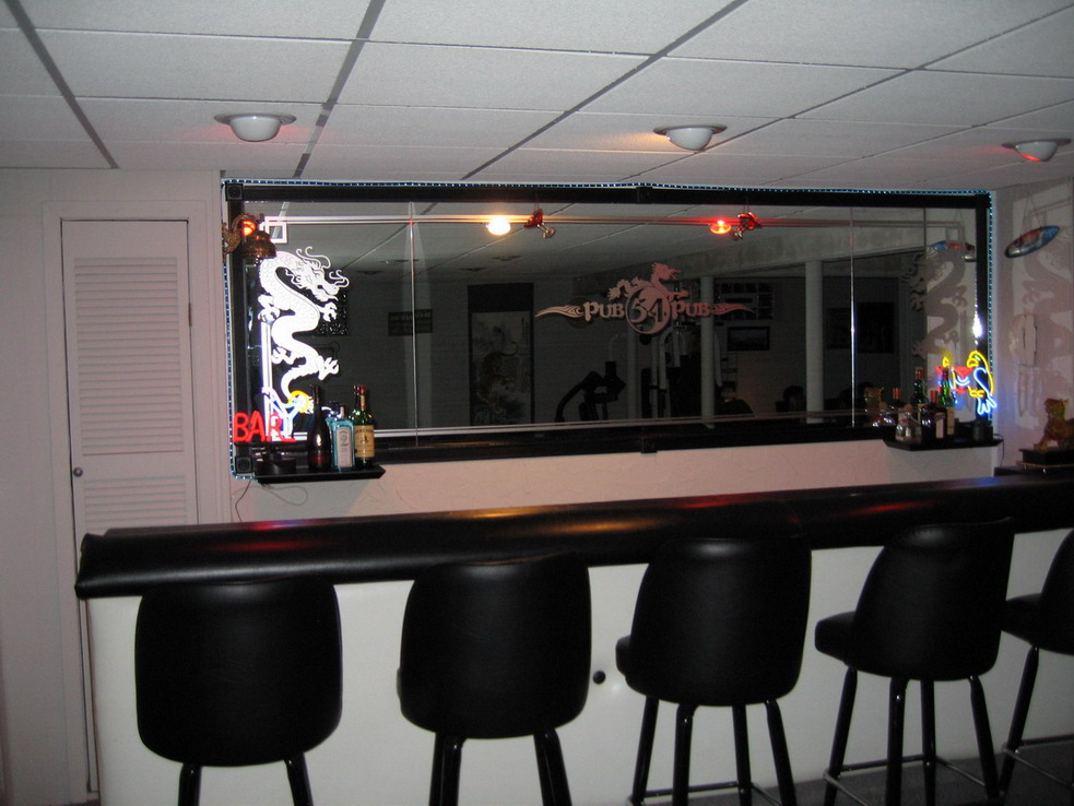 Custom Bar Mirror Decals Arts